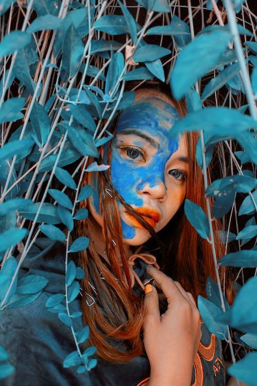 art, blau, buscant