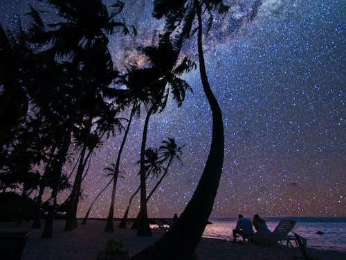 Fotobanka sbezplatnými fotkami na tému atol muža, hviezdna noc, Maledivy, medové týždne