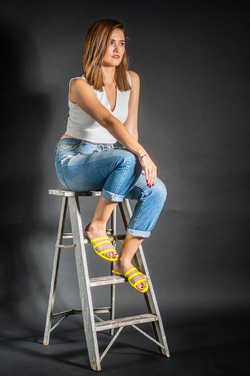 Free stock photo of #Modelos, girl, ladder, woman