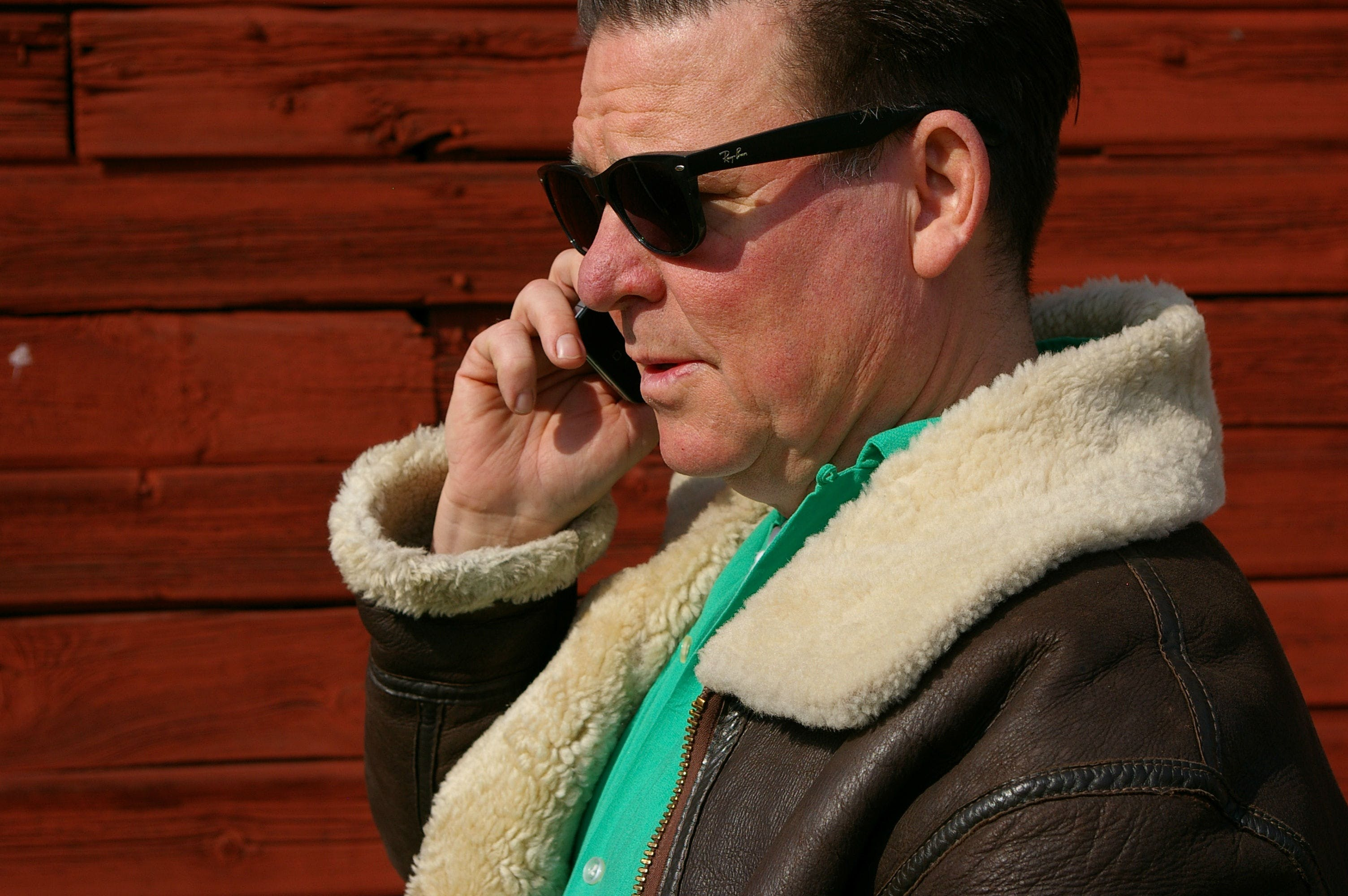 Free stock photo of man, sunglasses, face, phone