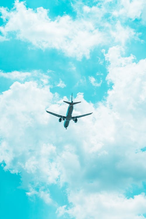 Free stock photo of airplane, blue, blue skies, blue sky