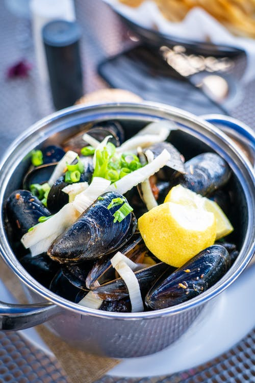 Free stock photo of eating, eating out, food, mussel