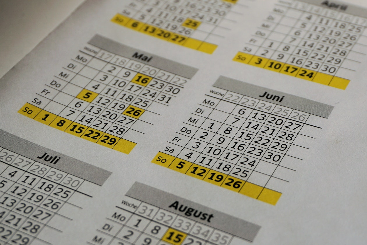 Big wall calendar