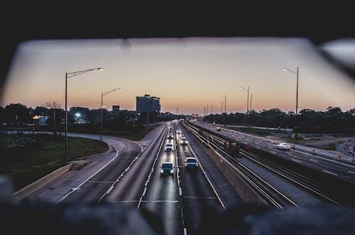 Gratis stockfoto met auto's, chicago, dageraad, lampen
