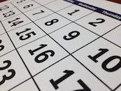 date, calendar, white