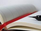 notebook, pen, writing