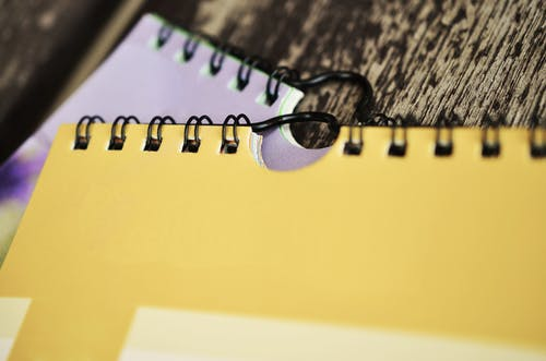 Closeup Photography of Two Spring Notebooks