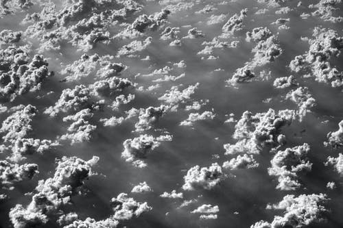 Monochrome Photo of Clouds