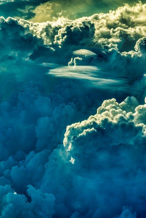 дневной свет, живописный, картина, изображающая небо