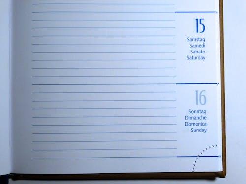 Foto stok gratis biro, buku agenda, buku harian, daftar