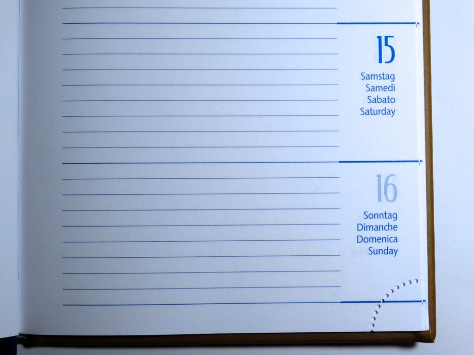agenda, blank, book