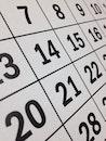 date, calendar, black