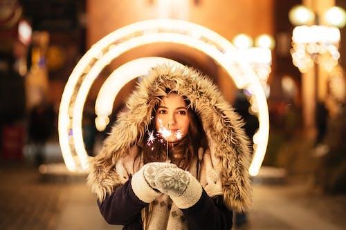Woman Holding Sparkling Stick