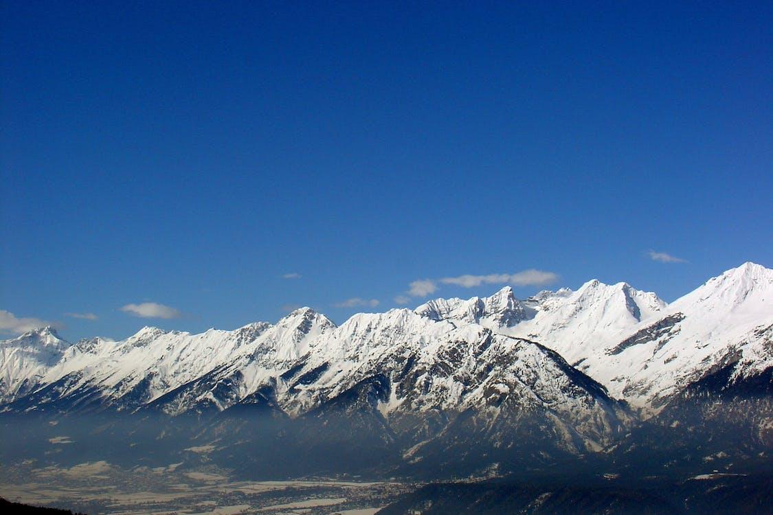 alpejski, dramatyczny, góra
