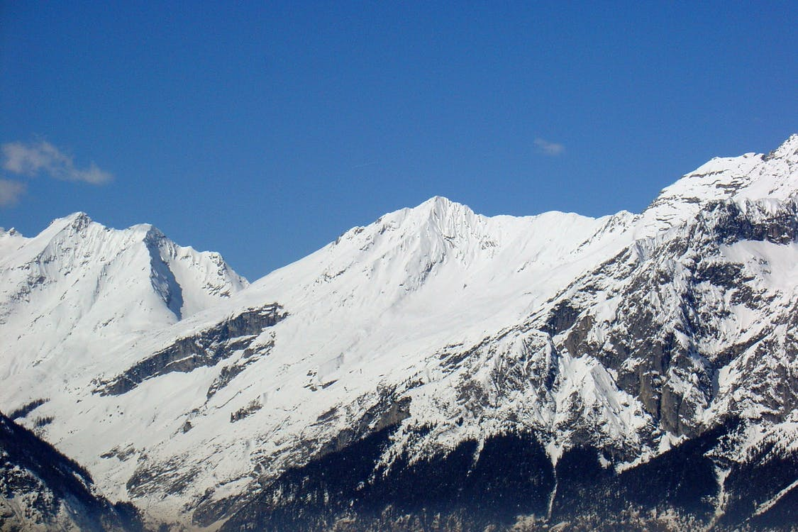 alpejski, chmury, dramatyczny