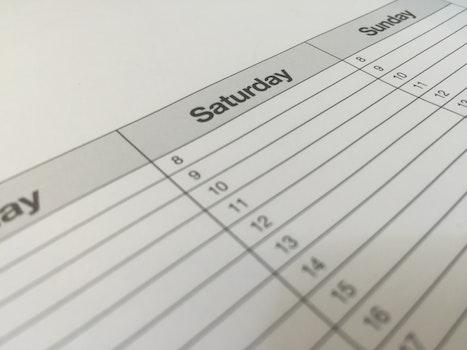 Free stock photo of writing, date, blur, dates
