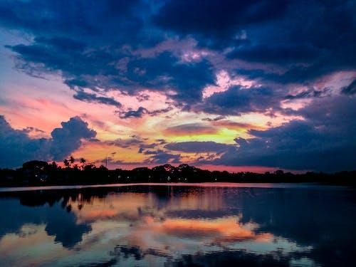 가벼운, 경치, 구름, 물의 무료 스톡 사진