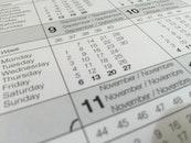 calendar, dates, schedule