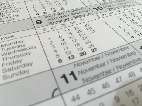 Free stock photo of calendar, dates, schedule, paper
