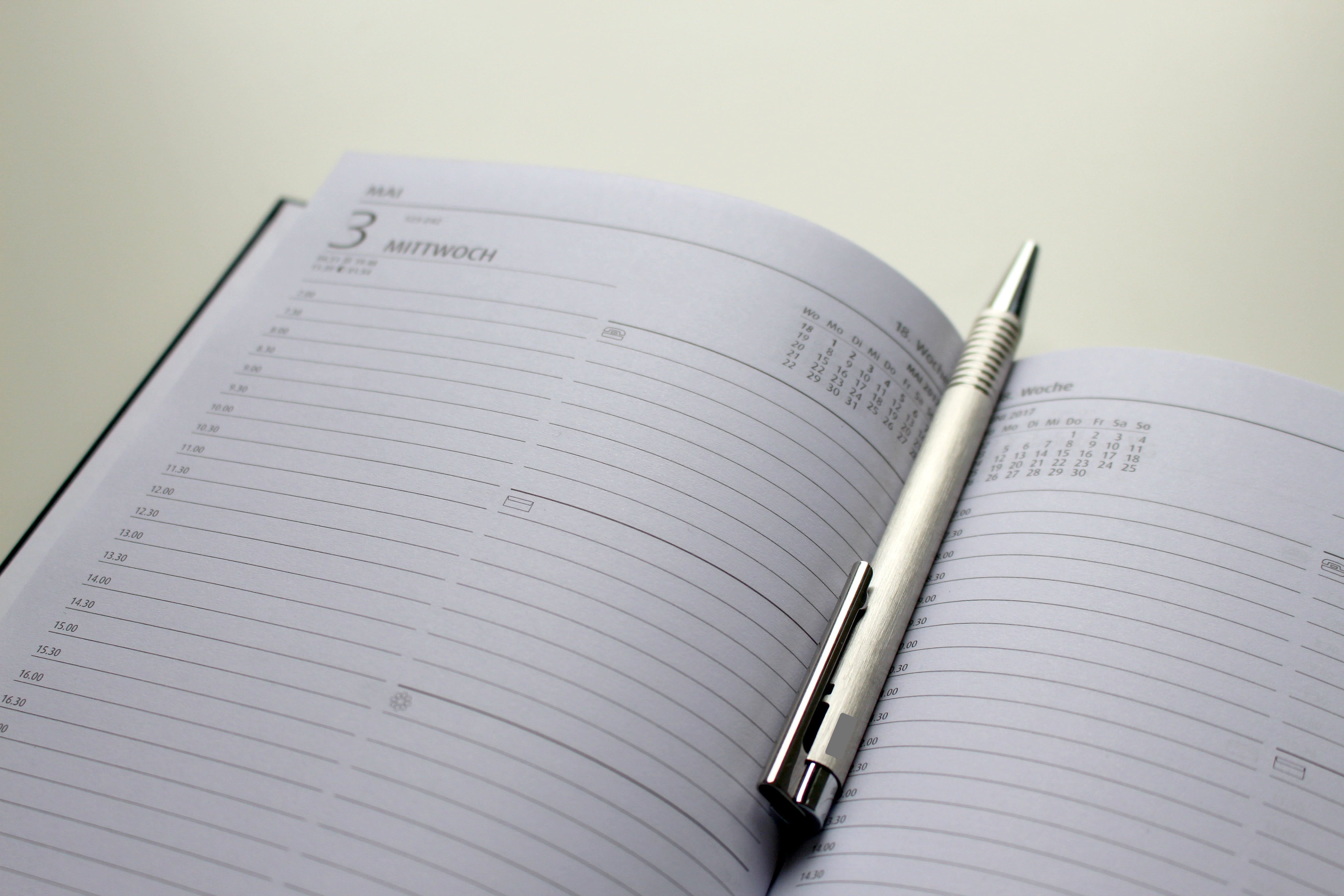 Free stock photo of 2016, agenda, appointment, blue