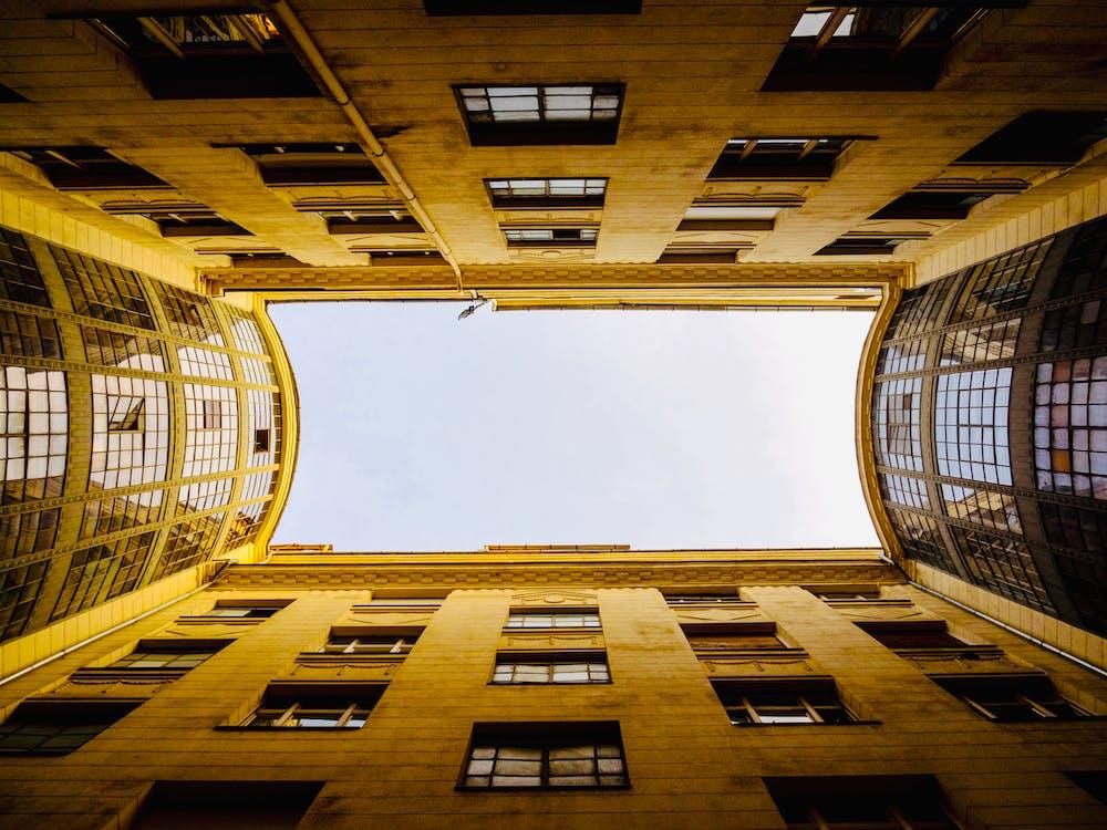 gebouw, gezichtspunt, huis