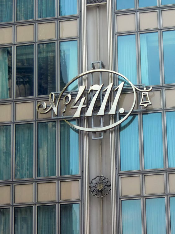 Silver 4711 Signage on Wall