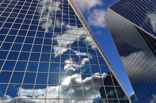 คลังภาพถ่ายฟรี ของ กระจก, การค้า, การสะท้อน, ตัวเมือง