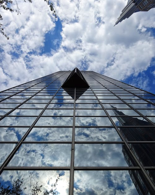 คลังภาพถ่ายฟรี ของ กระจก, การสะท้อน, ท้องฟ้า, ทันสมัย