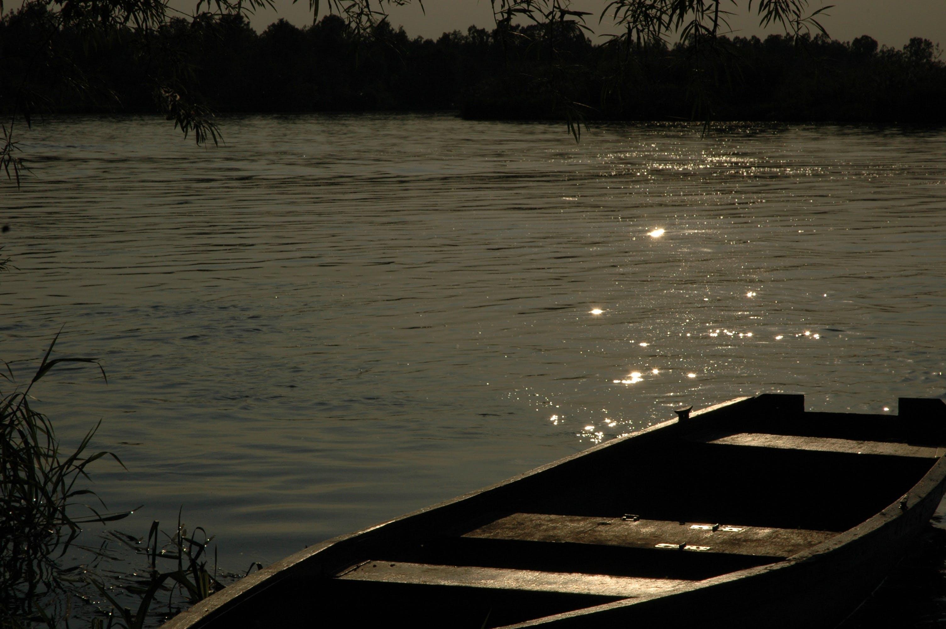 Free stock photo of landscape, nature, sunset, boat
