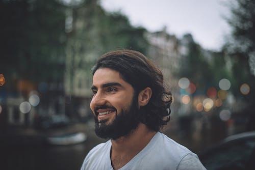 Ảnh lưu trữ miễn phí về Chân dung, mỉm cười, mơ hồ, người đàn ông có râu