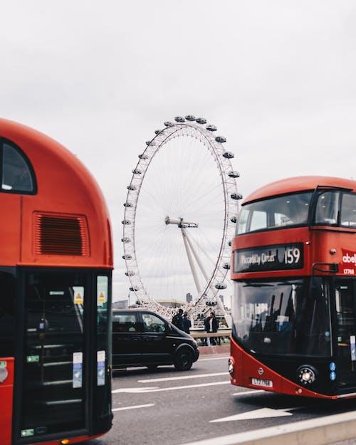 Kostnadsfri bild av bil, pariserhjul, resa, transportsystem