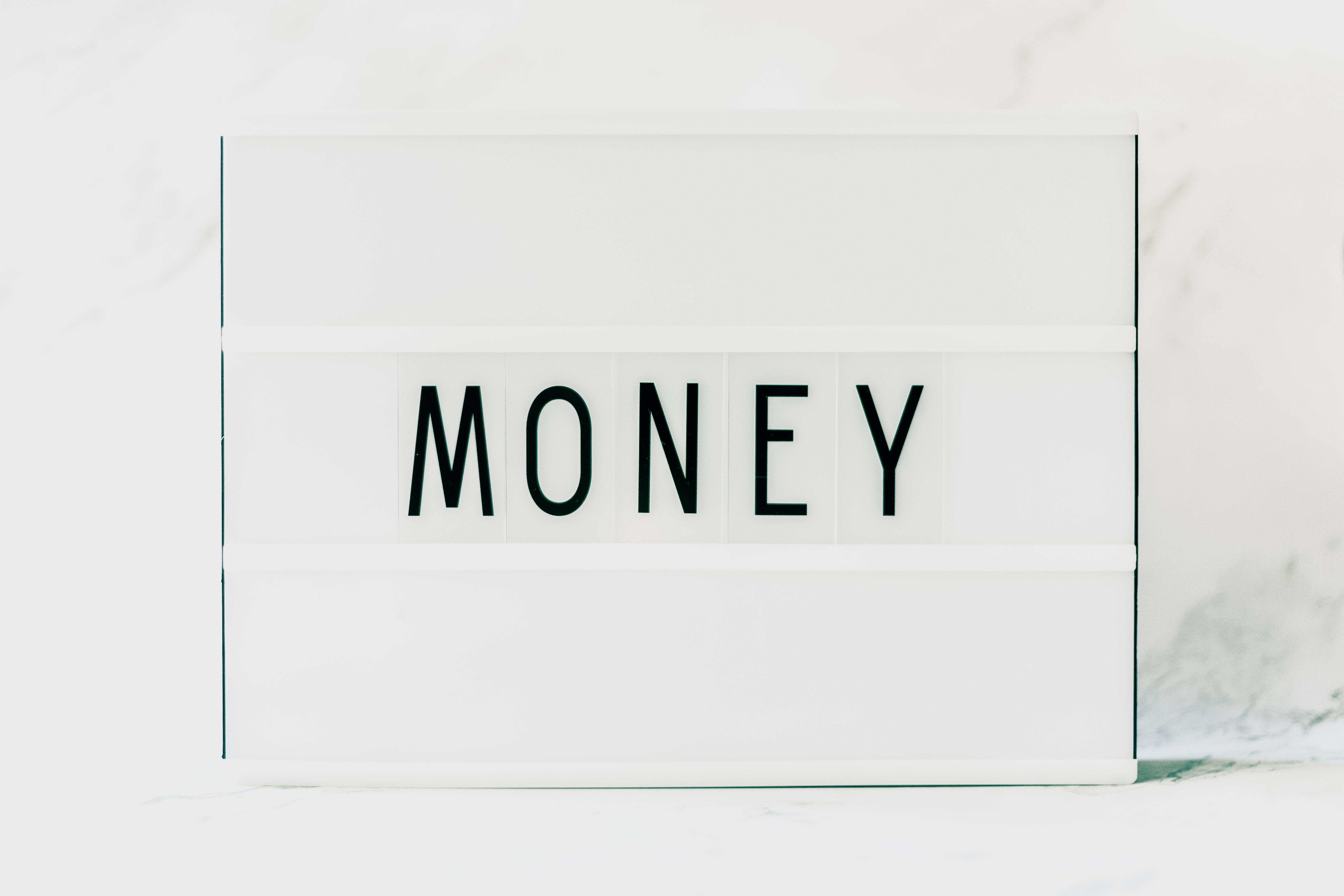 White Money Printed Card