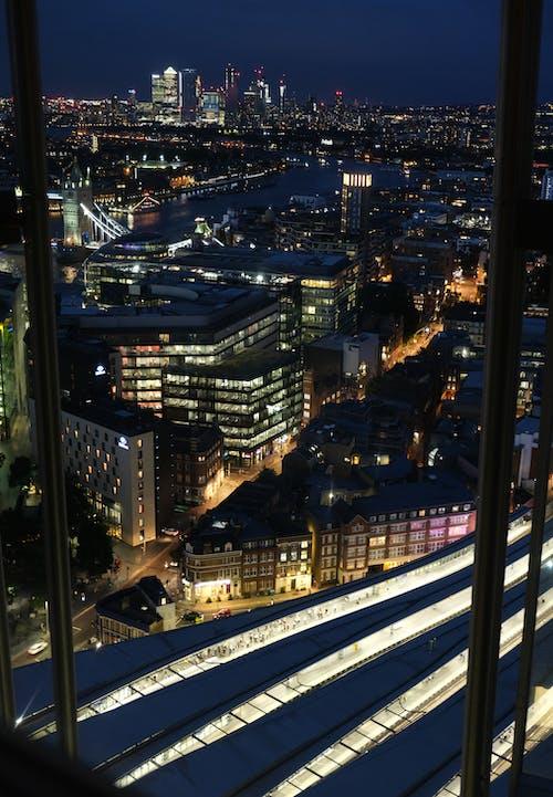 Free stock photo of city, city lights, city view, lights