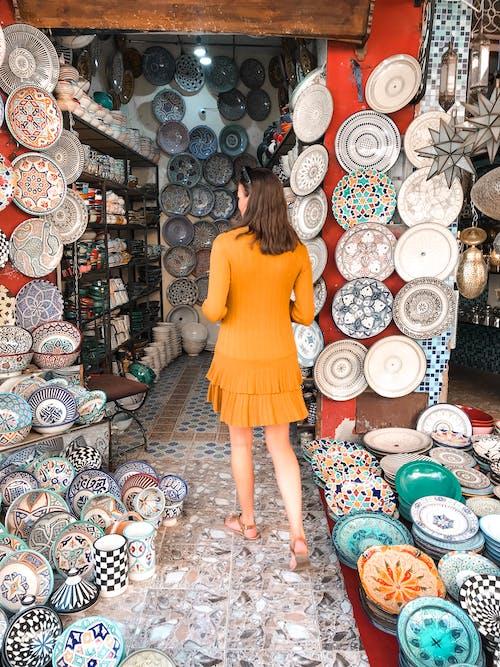드레스, 디자인, 머리, 쇼핑의 무료 스톡 사진