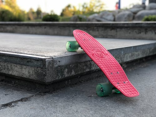 Red and Green Penny Board