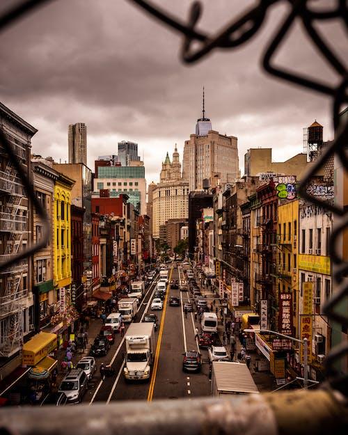 Photos gratuites de chinatown, ciel nuageux, états-unis, manhattan