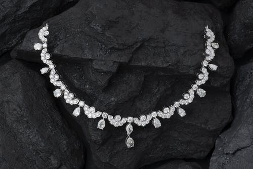 Darmowe zdjęcie z galerii z diament, diamentowy naszyjnik