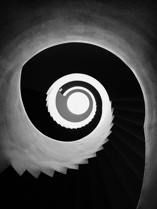 Black and White Stairs Vector Art