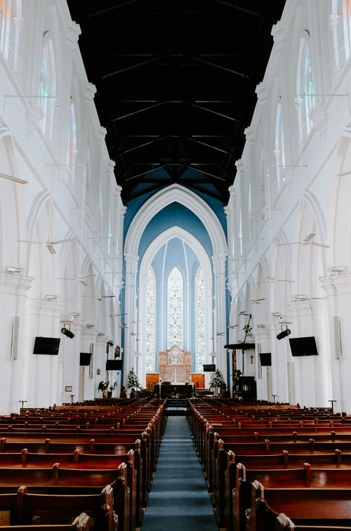 Architectural Photography of Church Interior View