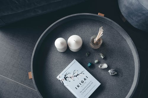 Photo of Candles, Stones, and Book