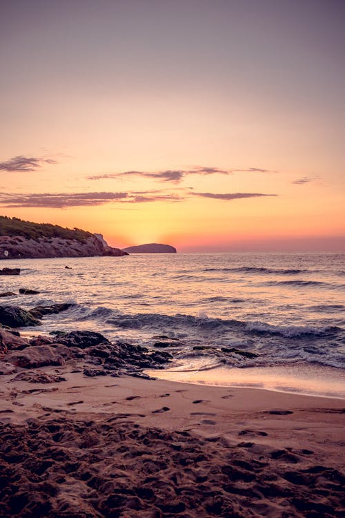Free stock photo of beach, beautiful sunset, cala nova ibiza