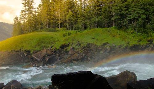 Бесплатное стоковое фото с Австрия, радуга, река, солнце