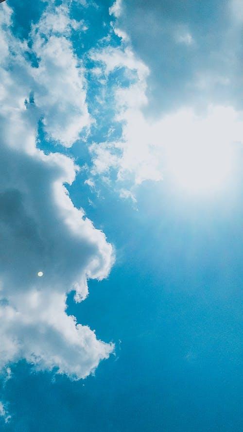 Základová fotografie zdarma na téma den, modrá, modrá obloha, mrak
