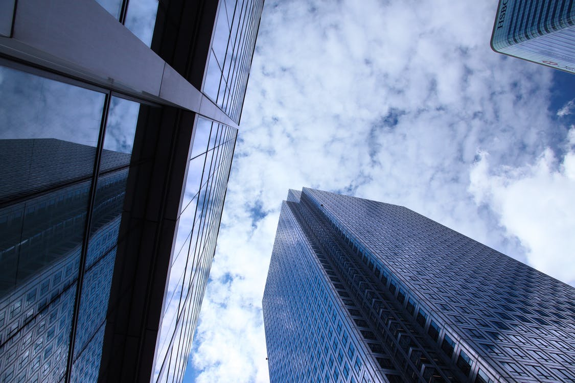 architektur, aufnahme von unten, bau