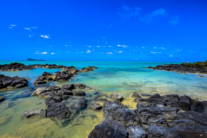 beach, blue, blue sky