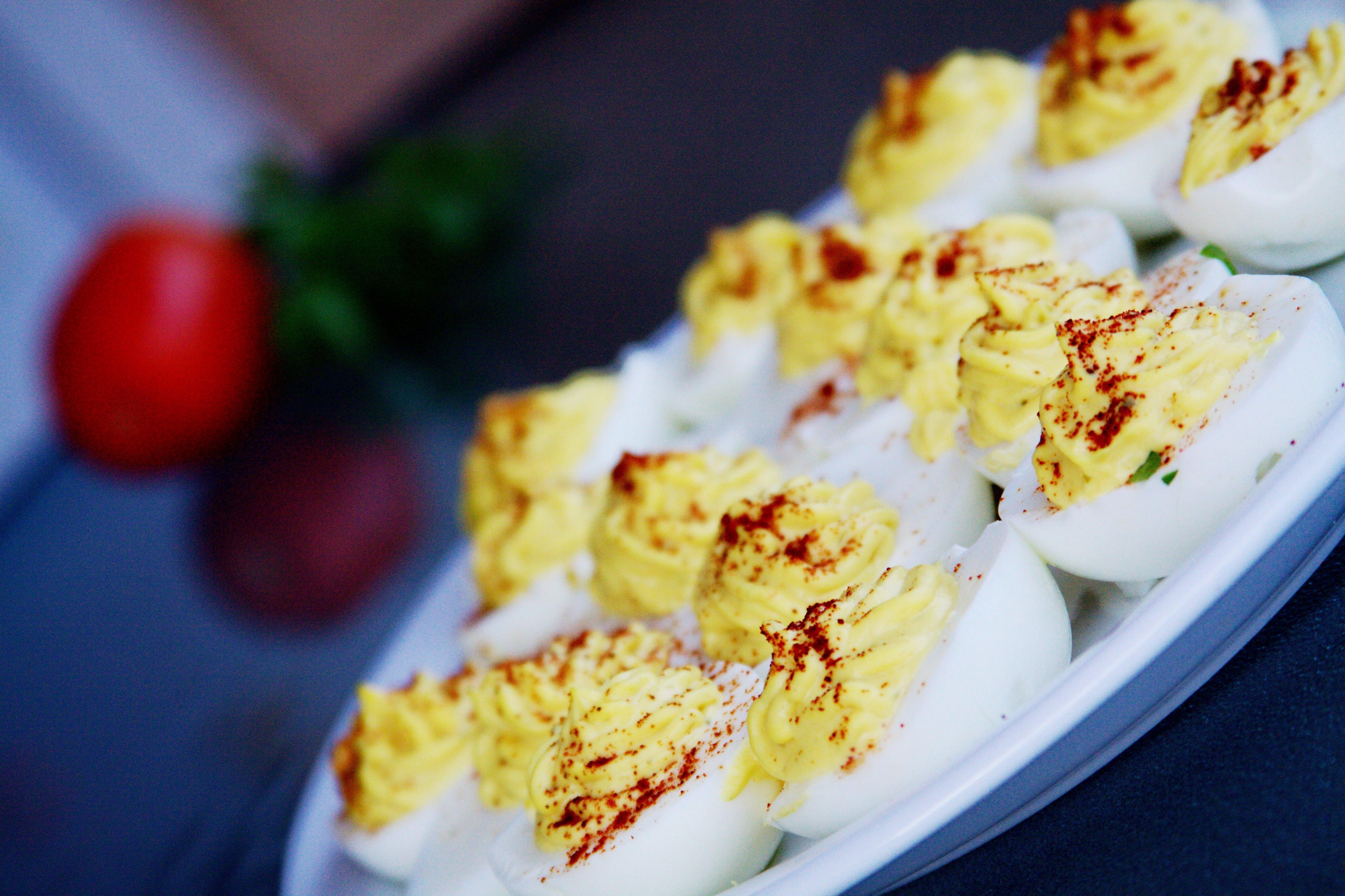 Dish on White Cerami Plate