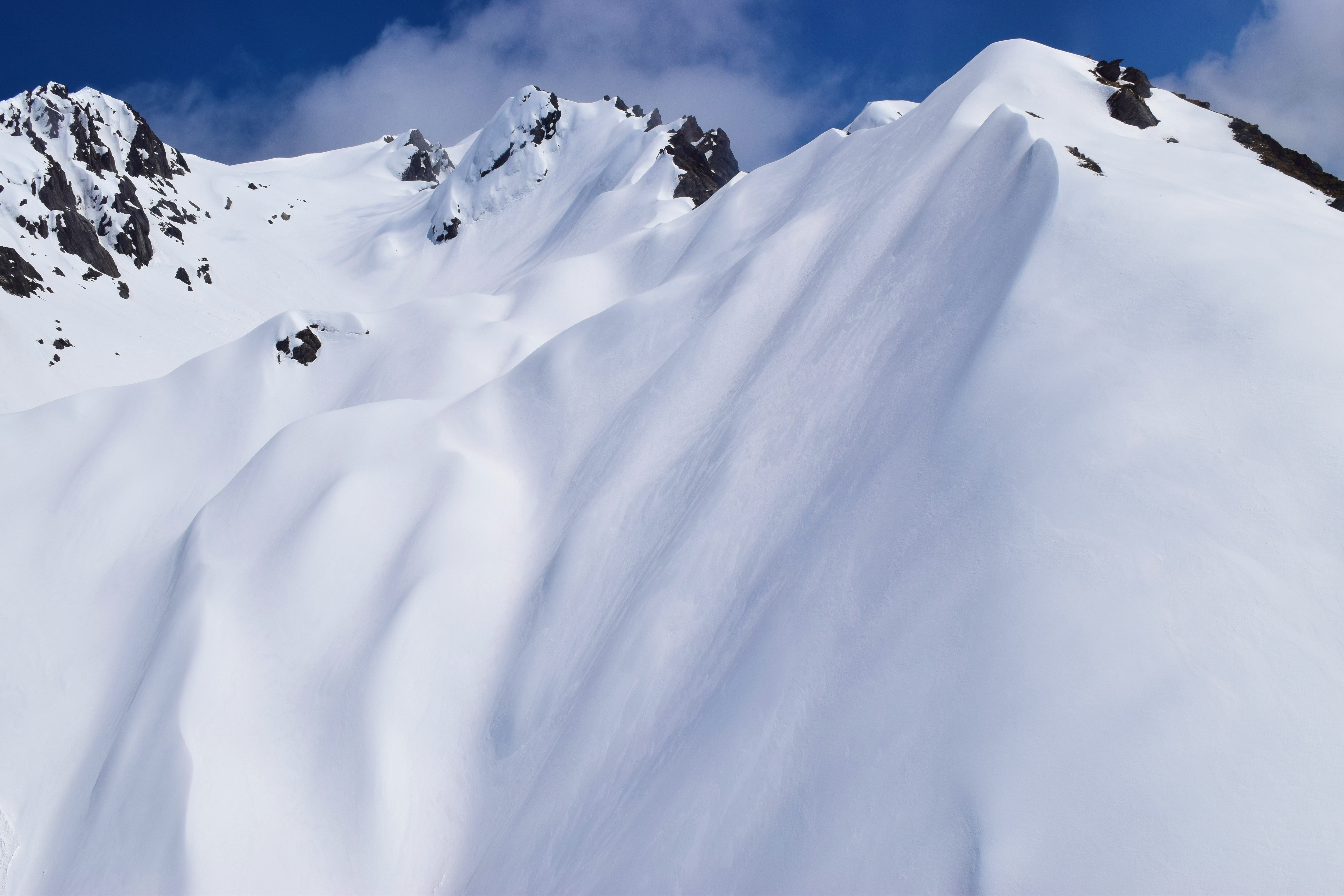 Snow Cover Mountain Slope