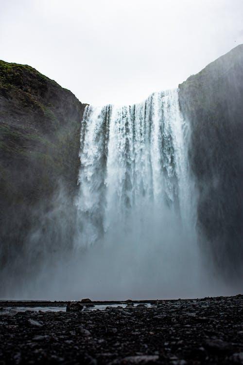 H2O, skogafoss, 低角度拍攝