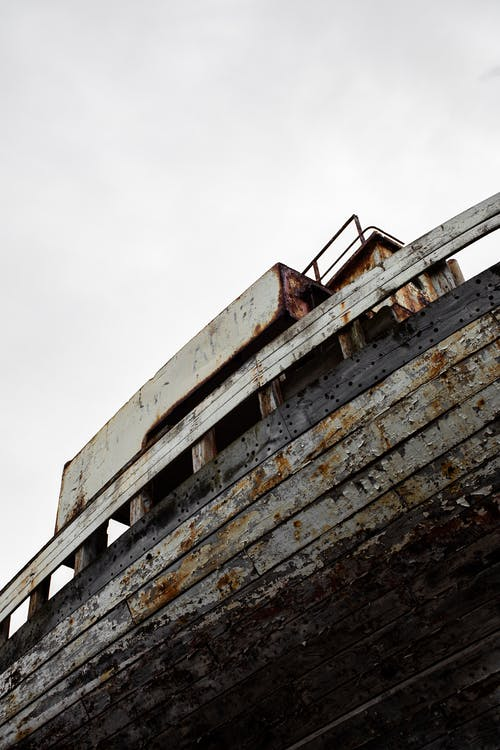 Foto stok gratis diabaikan, kapal, Kecelakaan kapal, kerusakan