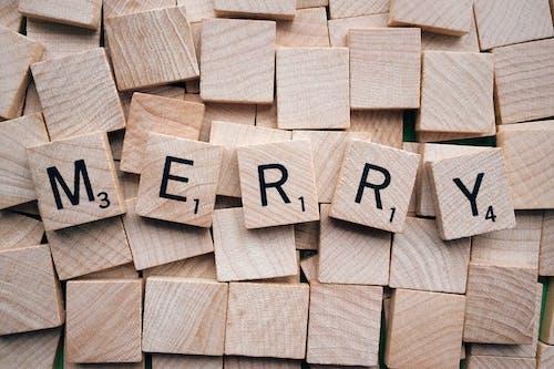 Gratis lagerfoto af ord, Scrabble, træ